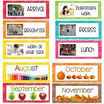 Rainbow Classroom Decor Bundle