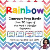 Water Color Rainbow Decor Set: EDITABLE!