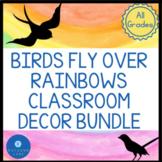 Rainbow Classroom Décor Bundle with Watercolor Rainbow and
