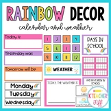 Rainbow Classroom Decor: Calendar and Weather
