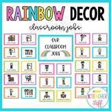 Rainbow Classroom Decor: Classroom Jobs