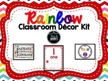 Rainbow Classroom Decor Kit