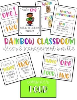 Rainbow Classroom Decor & Management Pack