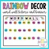 Rainbow Classroom Decor: Word Wall Headers