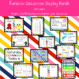 Rainbow Classroom Display Bundle