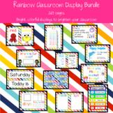 Rainbow Classroom Display Bundle