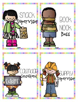 Rainbow Classroom Helpers/ Jobs