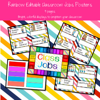 Rainbow Classroom Jobs Posters