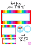 Rainbow Classroom Labels - Tote trays and more!