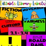 Editable Rainbow  Library Labels & Companion Book Challenge Rainbow Craft