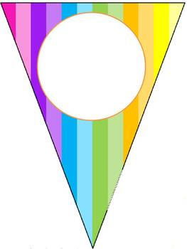 Rainbow Classroom Name Pennant Banner