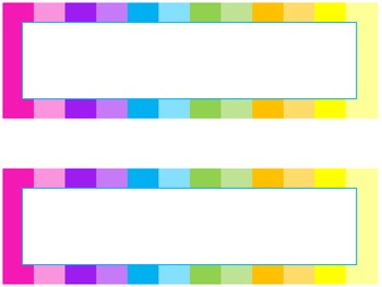 Rainbow Classroom Nametags