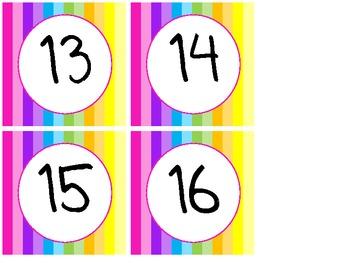 Rainbow Classroom Numbers