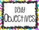 Rainbow Classroom Objectives Posters