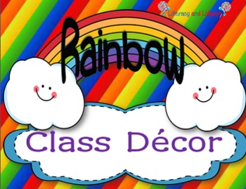 Rainbow Classroom Posters and Materials