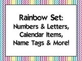 Rainbow Classroom Set 2 {Alphabet, Numbers, Name tags, Calendar, etc}
