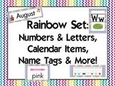 Rainbow Classroom Set {Alphabet, Numbers, Name tags, Calendar, etc}