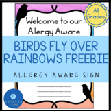 Rainbow Classroom Theme Allergy Letter to Parents and Visi