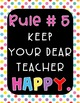 Rainbow Classroom Theme Rules Posters