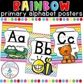 Rainbow Classroom Theme Primary Alphabet Posters