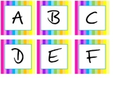 Rainbow Classroom Word Wall Letters
