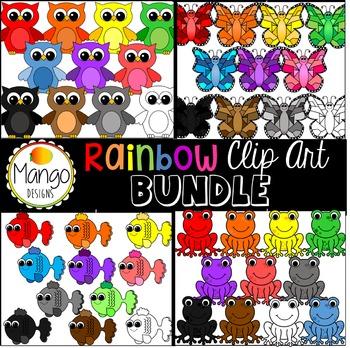 Rainbow Clip Art Bundle