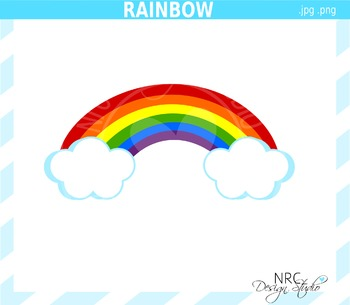Rainbow clipart commercial use