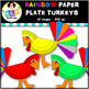 Rainbow Clip Art ● Paper Plate Turkeys ● Digital Images ● Products for TpT