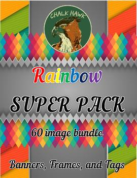 Rainbow Clip Art SUPER PACK