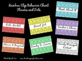 Behavior Chart - Rainbow Flowers and Dots Background