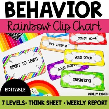 Rainbow Clip Chart Behavior {Editable Version Included}