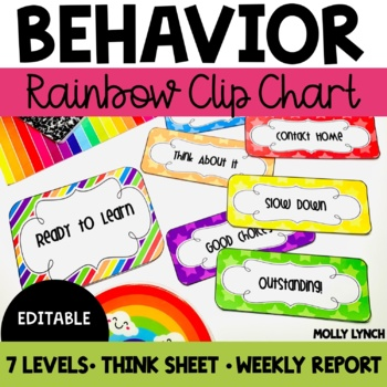 Rainbow Clip Chart Behavior {Editable Version Included}