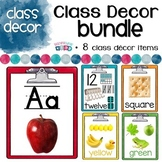 Rainbow Clipboard Classroom Decor Bundle