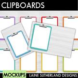 Rainbow Clipboards Mockups {Desk Scenes}