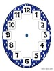 Rainbow Clock - Clock Labels and File Folder Game