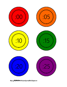 Rainbow Clock Labels