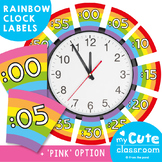 Rainbow Clock Labels for Telling Minute Time