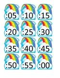 Rainbow Clock Numbers