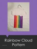 Rainbow Cloud Art Pattern