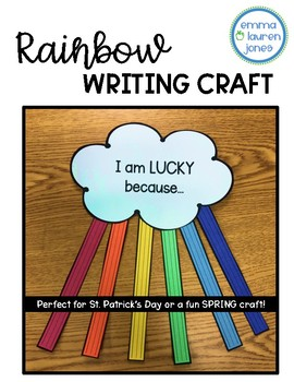 Rainbow Cloud Writing Craft - Spring or St. Patrick's Day!