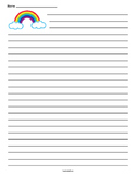 Rainbow Clouds Lined Paper