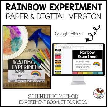 Rainbow Coffee Filter Science Experiment Using the Scientific Method