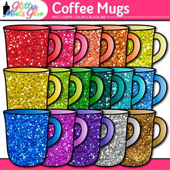 Rainbow Coffee Mug Clip Art {Cup for Hot Chocolate, Tea, & Warm Drink Container}