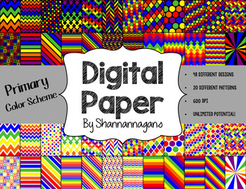 12x12 Digital Paper - Rainbow Collection: Bundle (600dpi)