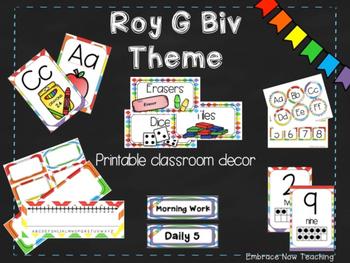 Rainbow Color Classroom Decor