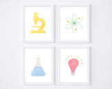 Rainbow Color Science Printable Posters