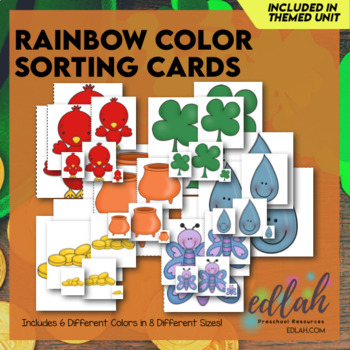 Rainbow Color Sorting Cards