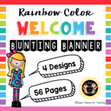 Rainbow Color Welcome Bunting Banner-SuperPassionForTeachingResources