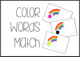 Rainbow Color, Number, and Shape Word Task Box activities