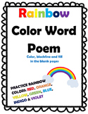 Rainbow Color Word Poem